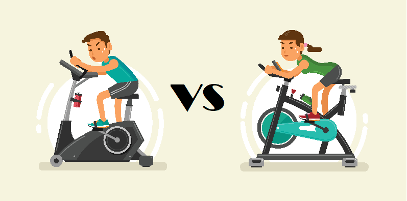 spin bike vs upright bike
